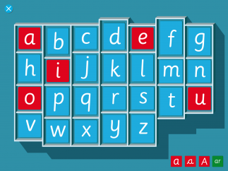 Browse the phonetic alphabet by touching letters and hearing their sounds.