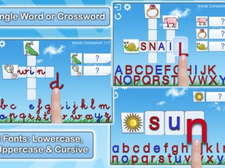 Kids can work with uppercase, lowercase, or cursive letters.