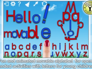 Kids can explore a moveable alphabet to create their own words or designs.