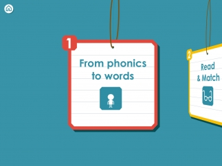Read simple words and play with language sounds in four games.