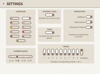 The impressive settings page helps customize activities in detail.