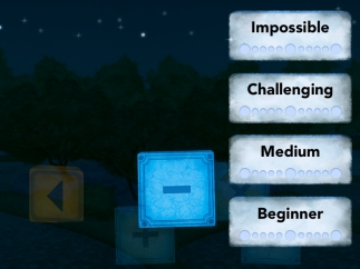Kids can choose among four challenge levels.