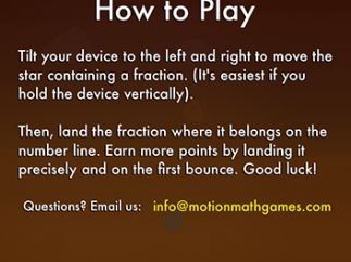 Instruction screen gives a brief overview of gameplay.