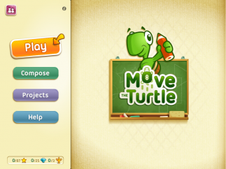 Adorable turtle and lots of choices invite kids into programming.