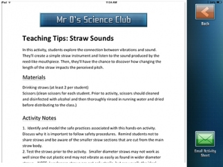 Teacher tips are included with each experiment.