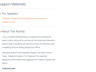Each section includes a detailed teacher guide and info on the Common Core standards addressed.