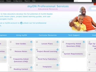 The Professional Services portal on the MyON website is an extensive resource for teachers.