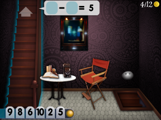 In Mystery Math Town, kids start with the answer and operator and then choose from the numbers they've collected to solve the problem.