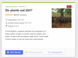 Mystery Science units are based on common kid science questions.