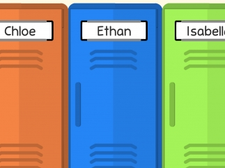Enter a student's names to assign them their own locker.