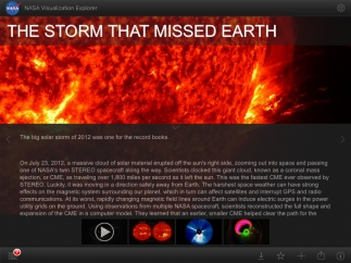 Stories include brief text and several supporting visuals.