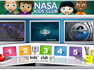 A colorful, charming dashboard is easy for kids to navigate.