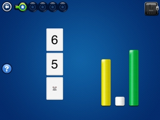 Kids learn how to identify numerals to represent quantities.