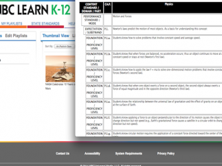 Some, though not all, videos list Common Core and state standards information.