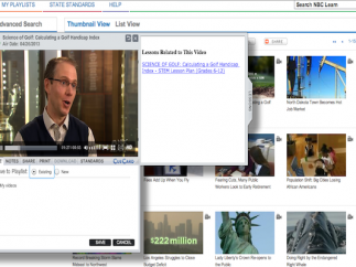 Select videos link to activities and experiments.