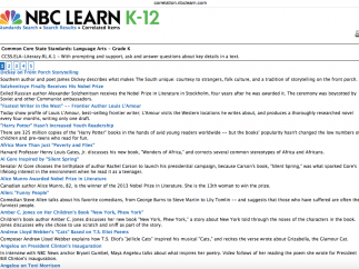 Videos are now aligned to state and national standards, including CCSS and NGSS; search by standard to link to videos.