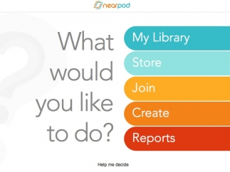 The home page helps users navigate the Nearpod website.