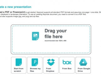 Easy-to-follow directions for creating a new presentation.