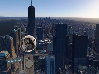 You can choose not to remain at human scale and tower above New York.