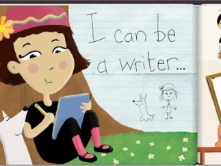 Students can express their creativity through writing and designing their own books.