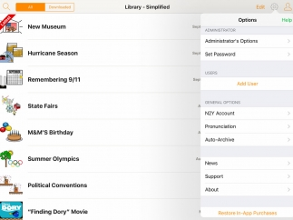 Many settings help customize the experience for each user.