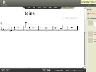 The composition tool makes songwriting an easy, visual process.