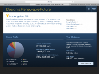 The Research Challenge is to design energy systems for U.S. cities.