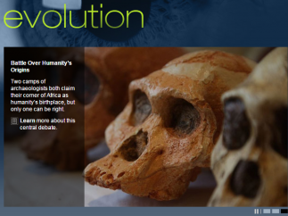 Nova Evolution is a collection of resources that help us understand how living things have changed over time.