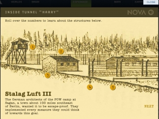 Interactives help students understand important historical details.