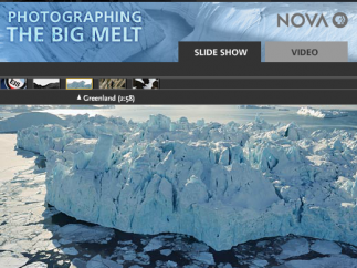 Examine photographic evidence from the Extreme Ice Survey.