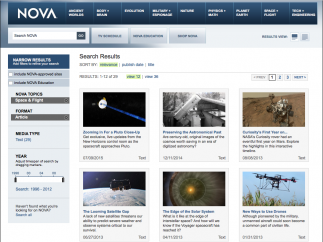 Over 20 space- and flight-related articles, some with audio versions, await.