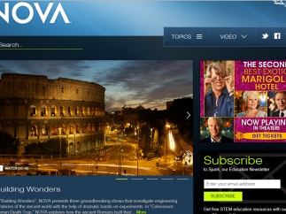 NOVA is a collection of education resources tied to the science television program.