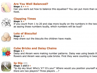 Explore multiplication and division with creative interactive problems.