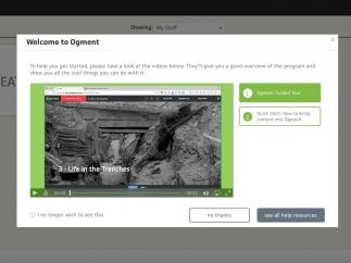 Ogment is a tool for creating and sharing lesson plans.