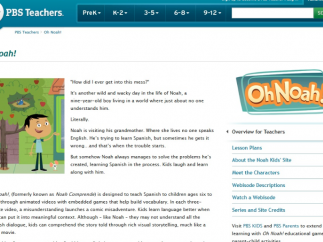 PBS Teachers site links to Oh Noah!