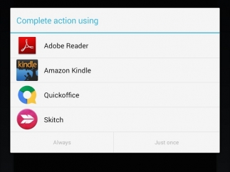 Some files can be opened using other apps on the device.