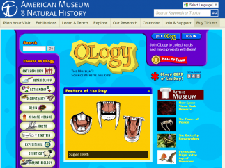 Oology is a kids' science site from the American Museum of Natural History.