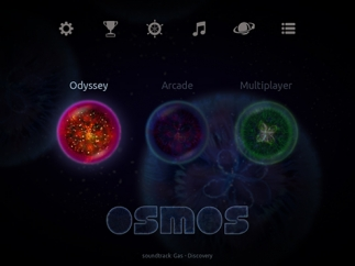 Kids can play in three modes: Odyssey, Arcade, or Multiplayer.