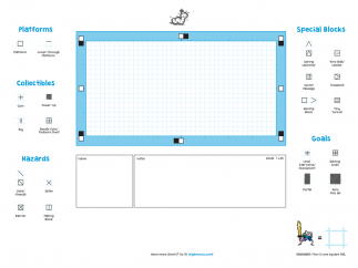 An example template to print and draw