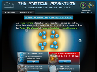 The homepage highlights five major topics for exploration.