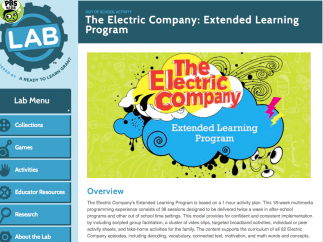 The Electric Company serves as an anchor for the afterschool and summer programs.