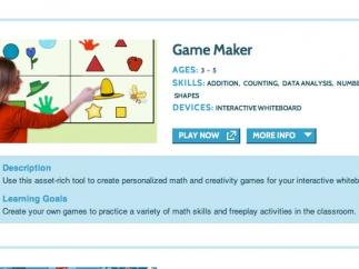 Teachers can even make their own customized games for use on an interactive whiteboard.