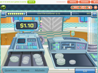 """The """"Fizzy's Lunch Lab""""-based game steers kids towards money mastery by counting up to two decimal places."""