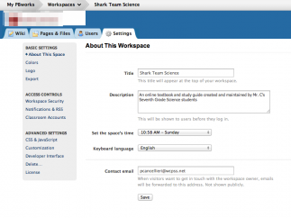 Editing wiki settings is easy with intuitive controls.