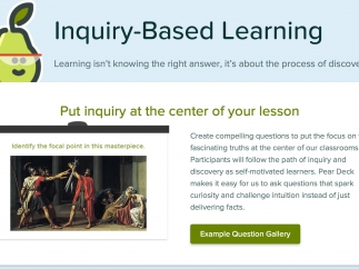 Ask questions and create activities to support active learning.