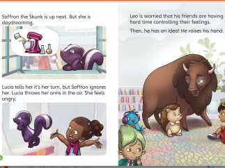 A digital storybook about the experiences and adventures of the Peekapak pals introduces each unit.
