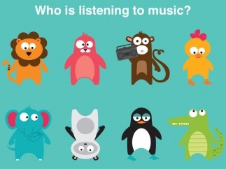 """In addition to the app's questions, teachers and kids can discuss their own, such as """"Who is upside down?"""""""