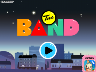 Toca Band's home screen has in-app ads (you can make them disappear) and support.