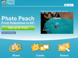 PhotoPeach's interface is cute and colorful.