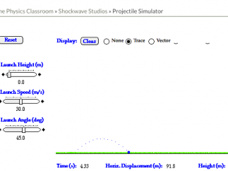 An example of one of the simple Shockwave simulations